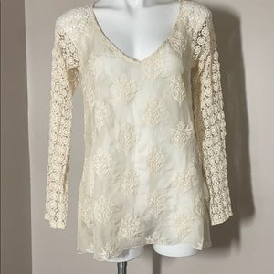 4LoveAndLiberty Johnny Was Lace Tunic Sheer Small